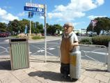 Rosebud / Shops and commercial centre, Point Nepean Road / Wood carving of Jack Jennings at corner of Pt Nepean Rd and Rosebud Pde