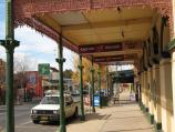 Rutherglen / Commercial centre and shops, Main Street / View south-east along Main St from under verandah of Victoria Hotel
