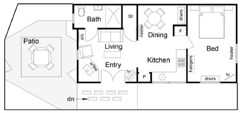 Blue Moon Cottages - Floor plan