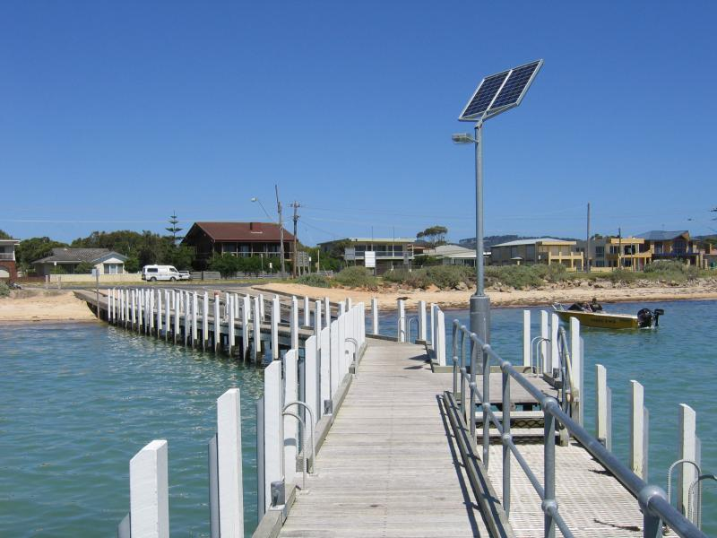 Safety Beach Jetty And Boat Ramp Area View From Jetty Back To Coast And