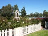 Sale / Princes Highway through Sale / Rose garden at McMillan Park, corner Foster St and York St