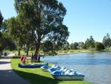 Sale / Lake Guthridge and surroundings / View north along lake beside McIntosh Dr towards paddle boats
