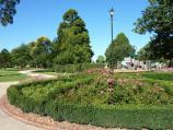 Sale / Botanic Gardens / View across floral circle towards playground