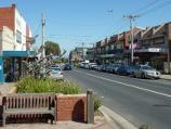 Sandringham / Shops and commercial centre, Bay Road, Station Street and Melrose Street / View west along Bay St west of Trentham St