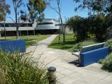 Sandringham / Bayside City Council and surrounding park, Royal Avenue / View from car park to council offices