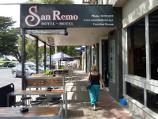 San Remo / Shops and commercial centre, Marine Parade / Outdoor seating at San Remo Hotel