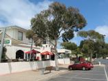 San Remo / Shops and commercial centre, Marine Parade / View west along Marine Pde at Westernport Hotel