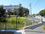 Seaford / Broughton Reserve and Kananook Creek, Station Street / View east across Kananook Creek at Station St