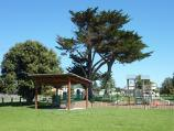 Seaspray / Seaspray Memorial Park and surroundings between Buckley Street and Bearup Street / Picnic shelter and playground, viewed from Buchan St