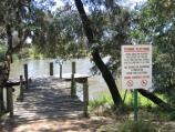 Seymour / New Crossing Place (Manners Street) and Goulburn River / Fishing platform, Lions Park