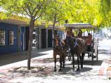 Shepparton / Commercial centre and shops / Horse and carriage rides, east along Stewart St at Maude St Mall