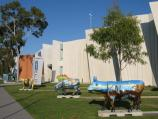 Shepparton / Cultural precinct, Wellsford Street / Shepparton Art Gallery at Eastbank Centre, view south along Welsford St