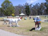 Shepparton / Monash Park, between Fryers Street and High Street / Shepparton Moooving Art exhibition of cow sculptures