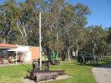Shepparton / Historical Precinct, corner High Street and Wellsford Street / Old farming equipment displays