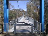 Shepparton / Victoria Park Lake, Goulburn River, Aquamoves centre / View across footbridge at Goulburn River near Aquamoves centre