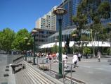 Southbank / Southbank Promenade and Yarra River / View east along Southbank Promenade opposite Riverside Quay Reserve