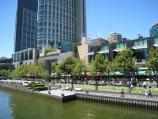 Southbank / Yarra Promenade and Yarra River / View of Yarra Promenade and Crown Entertainment Complex from Kings Bridge