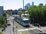 South Melbourne / South Melbourne tram station / View north along tram line from footbridge