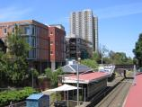 South Melbourne / South Melbourne tram station / View south along tram line