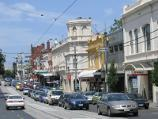 South Yarra / Shops along Toorak Road / View east along Toorak Rd towards Davis Av
