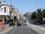 South Yarra / Shops along Toorak Road / View west along Toorak Rd at Osbourne St