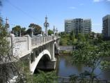 South Yarra / Yarra River around Church Street Bridge at Chapel Street / View north along Church Street Bridge from Alexandra Av