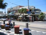 St Kilda / Acland Street shops / Shops along east side of Acland St at Belford St