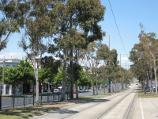 St Kilda / St Kilda Road and Brighton Road / View south along tram line down centre of St Kilda Rd towards Inkerman St