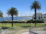 St Kilda / Gardens at southern end of Pier Road and at entrance to St Kilda Pier / North-westerly view towards yacht club and harbour from footbridge