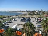 St Kilda / St Kilda Sea Baths / Northerly view over car park from observation deck