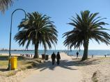 St Kilda / St Kilda Beach, Brooks Jetty and foreshore gardens / View towards Brooks Jetty from foreshore
