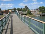 Tooradin / Sawtells Inlet north of South Gippsland Highway / View south-east along footbridge towards shops