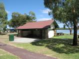 Tooradin / Landing Reserve picnic area fronting Sawtells Inlet, southern end of Foreshore Road / Shelter at picnic area