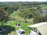 Tooradin / Roadside trading area, South Gippsland Highway at Bunyip River / View down to picnic area from lookout tower
