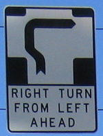 Hook turn sign