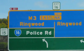 Monash Freeway exit numbers