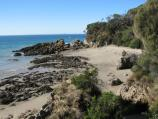 Walkerville / Cliff top walking track south of Walkerville South boat ramp / View south down to beach from walking track