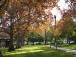 Wangaratta / King George V Memorial Gardens, Ovens Street / Shady path