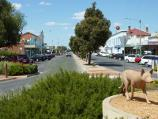 Warracknabeal / Shops and commercial centre, Scott Street / View south along Scott St at Woolcock St
