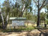 Warracknabeal / Lions Flora and Fauna Park, Yarriambiack Creek / Yarriambiack Creek Walk sign, near northern end of Scott St