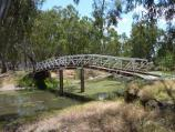 Warracknabeal / Lions Flora and Fauna Park, Yarriambiack Creek / Footbridge across creek into Lions Park, near northern end of Scott St