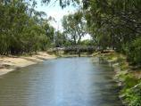 Warracknabeal / Lions Flora and Fauna Park, Yarriambiack Creek / View north-east along creek from Jamouneau St bridge