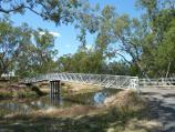 Warracknabeal / Yarriambiack Creek at Asquith Avenue / Half Moon Bridge across creek