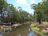 Warracknabeal / Yarriambiack Creek at Asquith Avenue / View north along creek from footbridge