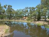 Warracknabeal / Yarriambiack Creek at Asquith Avenue / View south along creek from footbridge