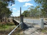 Warracknabeal / Yarriambiack Creek at Dimboola Road bridge / View east across Dimboola Rd bridge