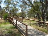 Warracknabeal / Yarriambiack Creek at Dimboola Road bridge / View along footbridge across creek north of Dimboola Rd