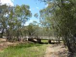 Warracknabeal / Yarriambiack Creek at Dimboola Road bridge / View south along creek from footbridge towards Dimboola Rd bridge