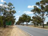 Warracknabeal / Henty Highway north side of Warracknabeal / View north along Henty Hwy, north of Borung Hwy