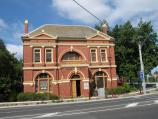 Warragul / Commercial centre and shops / Museum housed in old Shire Hall, corner Queen St and Victoria St